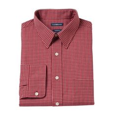 Big & Tall Croft & Barrow Fitted Checked Dress Shirt, Men's, Size: 1
