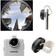 Universal 235 Detachable Clip Fish Eye Lens Camera For All Phones iPhone 6 6s Plus 5s Samsung S3 S4 S5 Note