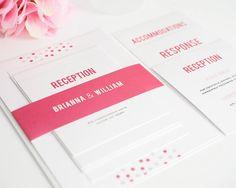 Wedding Invitation Modern Wedding Invitation par shineinvitations