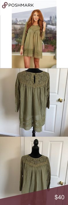 Green sheer dress size M New never worn. Bought from another posher. Dresses Mini