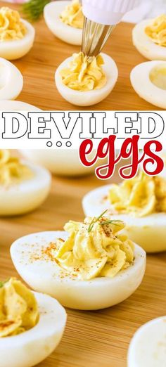 Deviled eggs made with hard boiled eggs, creamy mayo, spices, and a splash of pickle juice are a holiday staple that we love dearly! Egg Recipes, Kitchen Recipes, Raw Food Recipes, Cooking Recipes, Best Appetizers, Appetizer Recipes, Homemade Crackers, Sweet Potato Casserole, Deviled Eggs