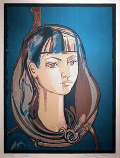 FRANCOISE GILOT Youth (Jeunesse) 1976 Color Lithograph on Arches Vincent Mann Gallery New Orleans: , Luc Didier