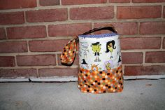 Halloween Treat Bucket Tutorial   Sew Mama Sew   Outstanding sewing, quilting, and needlework tutorials since 2005.