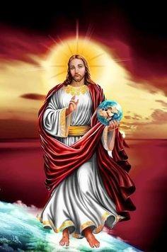 we love jesus! Jesus Our Savior, Jesus Is Lord, Christian Images, Christian Art, Catholic Art, Religious Art, Coeur Gif, Jesus Christ Painting, Jesus Photo