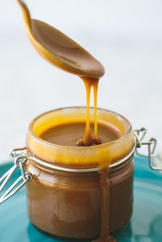 Salted Caramel Sauce (Paleo, Vegan, Dairy-Free)  #justeatrealfood #downshiftology