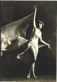 "books0977: ""Anna Duncan dancing (c.1915). Photograph by Nickolas Muray. One of the adopted daughters of Isadora Duncan known as the Isadorables, Anna Duncan was born in Switzerland in 1895. She studied with Isadora in Berlin and then performed with..."