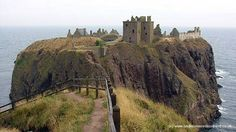 Dunnottar Castle ~ Constantine mac Aed (Constantine II), the grandson of Kenneth MacAlpin, began his life as an exile.  In 878 AD his father, Aed, had been slain by a Giric, son of dungal, and Constantine, a young boy at the time, fled to Ireland where he was brought up by monks surrounded in Gaelic culture.