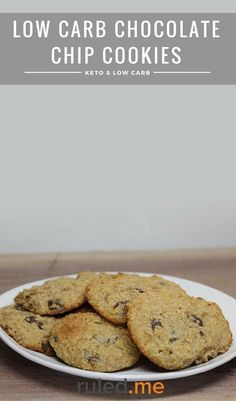 A low carb chocolate chip cookies recipe that's sugar free and keto diet friendly. #ketodiet #ketorecipes #ketogenicdiet