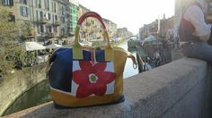 Hand Painted Bag - Genuine Leather - Made In Italy