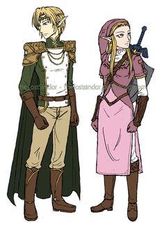 Concepts: Prince Link and Heroine Zelda by theLostSindar on DeviantArt