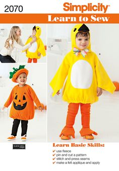 This is my daughters halloween Duck costume she wants. I haven't made anything since Girl Guides...wish me luck :)