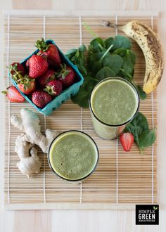 This is not your basic strawberry banana green smoothie. Oh, no. This has a kick of fresh ginger to wake up your mouth. And it's just the right amount. The almond milk and banana make this smoothie taste like a milkshake.  Strawberry Ginger Zinger Strawberries aren't just delicious, they are also one of the …