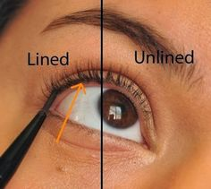 What is tightlining? It's a way of applying your liner right in between your lashes. This is a great way to appear as though you're not wearing any makeup at all, yet adding a little bit of color and definition to your eyes, and making the base of your lashes appear thicker.