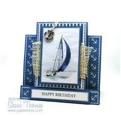 Image result for cards with die cut boats on them