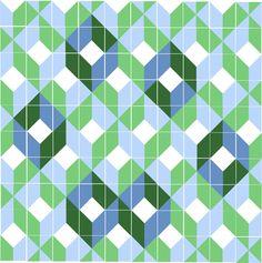 Boxes in a new arrange (tiles), Ligia de Medeiros. 2015