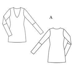 Пуловер - выкройка № 103 A из журнала 7/2011 Burda – выкройки пуловеров на Burdastyle.ru