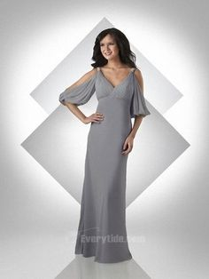 Double Straps V-neck Pleated Beading Affordable Silver Chiffon Floor Length Zipper Up A-line Bridesmaid Dress /Mother of the bride dress Party Mob Dresses, Pageant Dresses, Bride Dresses, Dark Grey Bridesmaid Dresses, Bridesmaids, Bridesmaid Gowns, Chiffon, Groom Dress, Wedding Party Dresses