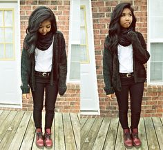 Cherry Red Docs (by Sharena C.) http://lookbook.nu/look/2644993-Cherry-Red-Docs