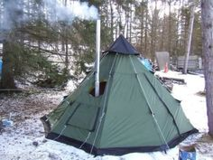 Teepee-Tent-10-x-10-Family-6-Person-Outdoor-Hiking-Guide-Gear-Trail-Camp-Scouts