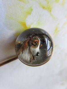 TIE SLIDE Sterling Silver Newfoundland DOG 925 UK Hallmark Personal Engraving