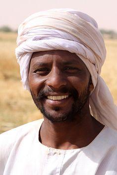 sudan - the black pharaohs A Nubian smile...beautiful man