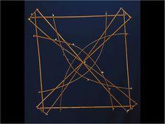 "Wapepe Navigation Chart. Marshall Islands. 19th century. Sticks, coconut fiber, shells. 29 1/2 29 1/2"". Peabody Essex Museum, Salem.- Google Search"