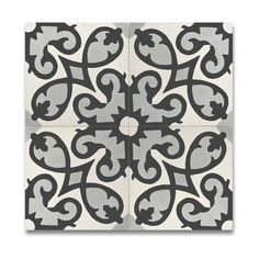 Agadir Grey and White Handmade Cement and Granite Moroccan 8-inch x 8-inch Floor and Wall Tile (Pack of 12)