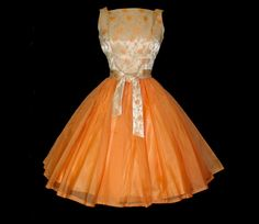 1950s Dress Couture Designer Dreamsicle Full by vintagediva60, $225.00