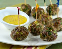 Bacon Meatballs & Mustard Sauce from our newsletter -- these quick bacony bites work for all phases of the Fast Metabolism Diet.