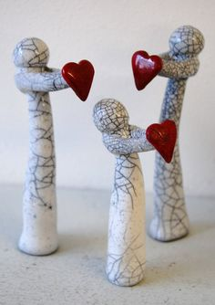 Items similar to raku family gift of love, wedding favors, gifts for special occasions, hand p. Raku Pottery, Pottery Sculpture, Slab Pottery, Pottery Art, Pottery Painting, Ceramics Projects, Clay Projects, Clay Crafts, Beginner Pottery