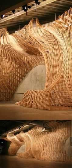 parametric modelling installation which merged a culmination of the skin & shape design. Arch2o-Laminar Flow  Sci-arc 1A Design Studio Class  (4)