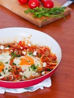 Pulled Pork Breakfast Egg Skillet {Gluten-Free, Dairy-Free}