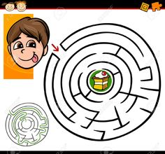 Cartoon Illustration Of Education Maze Or Labyrinth Game For.. Royalty Free Cliparts, Vectors, And Stock Illustration. Image 23643666.