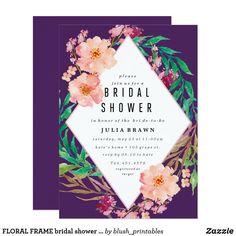 FLORAL FRAME bridal shower invitation