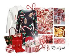 """Candy cane love"" by jaystilo ❤ liked on Polyvore featuring Candy Cane Lane and Bubbly Bows"