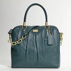 COACH-Kristin-Leather-Pleated-Satchel-15339-Green