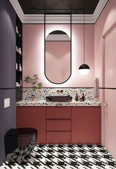 Bathroom decor for the master bathroom renovation. Discover master bathroom organization, master bathroom decor tips, bathroom tile suggestions, bathroom paint colors, and more. Bad Inspiration, Bathroom Inspiration, Furniture Inspiration, Bathroom Colors, Small Bathroom, Master Bathrooms, Bathroom Mirrors, Master Baths, Boho Bathroom
