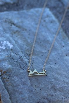 If the mountains have a special place in your heart, this necklace is for you…