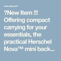 d64a6d017736 Herschel Supply Co. Nova Backpack Mini Women s Small Pink Lady Crosshatch