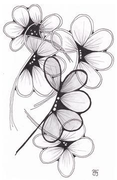 kaart 79 by JeAnToin Lotus Flower, Zentangle, Tattoos, Flowers, Cards, Tatuajes, Zentangle Patterns, Tattoo, Maps