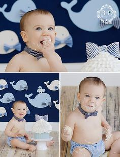 Whale cake smash for preppy baby boy Smash Cake First Birthday, Baby Boy First Birthday, First Birthday Photos, Boy Birthday Parties, Birthday Ideas, First Birthday Photography, 1st Birthday Photoshoot, Cake Smash Photography, Cake Smash Photos