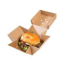 Braune Burger Box XL, Kraft, 13x13x10cm