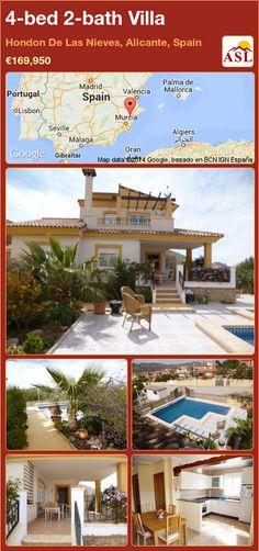 4-bed 2-bath Villa in Hondon De Las Nieves, Alicante, Spain ►€169,950 #PropertyForSaleInSpain