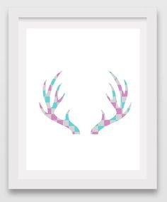 printable reindeer antler pattern use the pattern for crafts
