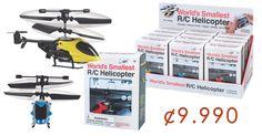 World's Smallest R/C Helicopter ¢9.990!!! Envio Gratis en todo el GAM!!!