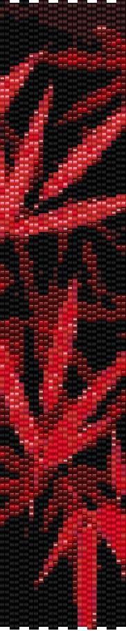 Peyote Bracelet Beading Pattern Pink Leaves by GoldenValleyCraft on Etsy