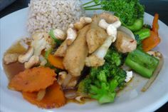 Cashew Nut Fried Rice from The Vegan House in Hollywood, CA | Click to order online