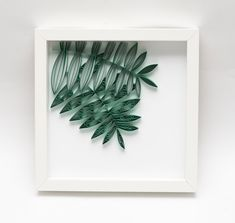 Modern Home Decor Green Leaves Fern Leaf Quilling Wall Art Framed Paper Art Unique Bedroom Decoration Botanical Wall Decor Tropical Wall Art Arte Quilling, Paper Quilling, Decoration, Art Decor, Home Decor, Bedroom Green, Bedroom Decor, Baby Room Art, Pink Candles