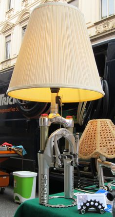 Bicycle suspension fork desk lamp by ilmeccaproduzioni on Etsy, €105.00