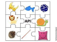 πάζλ φωνολογικής ενημερότητας Phonological Awareness, School Lessons, Learn To Read, Motor Skills, Speech Therapy, Alphabet, Literacy, Preschool, Kids Rugs